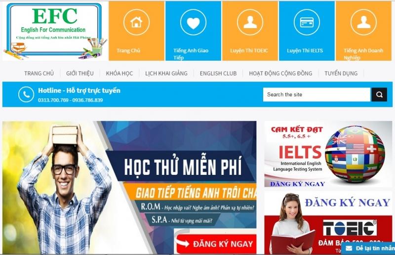 Website của Trung Tâm Anh Ngữ EFC