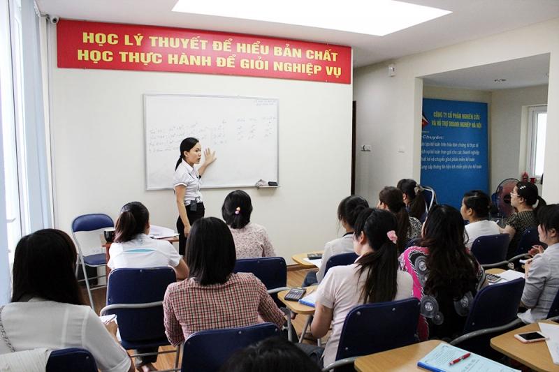 Lớp học kế toán của trung tâm Nhất Nghệ