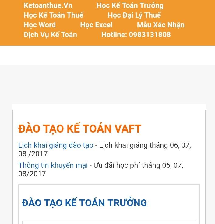 Trung tâm đào tạo kế toán  VAFT chi nhánh Đồng Nai