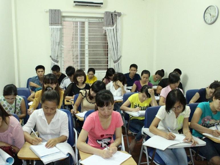 Hình ảnh lớp học kế toán tại quận Tân Bình