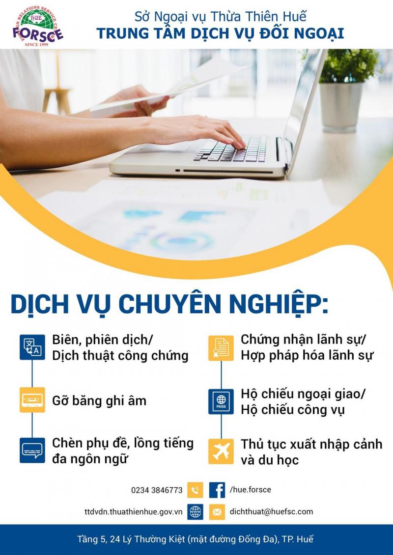 Trung tâm Dịch vụ đối ngoại tỉnh Thừa Thiên Huế