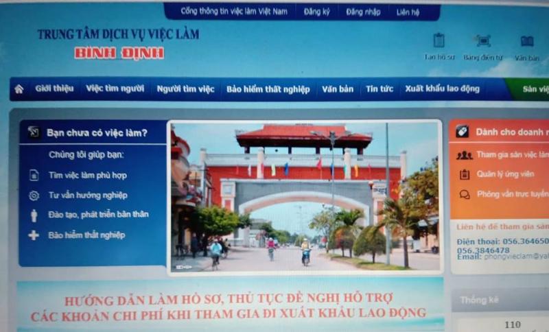 Trung tâm giới thiệu việc làm tỉnh Bình Định