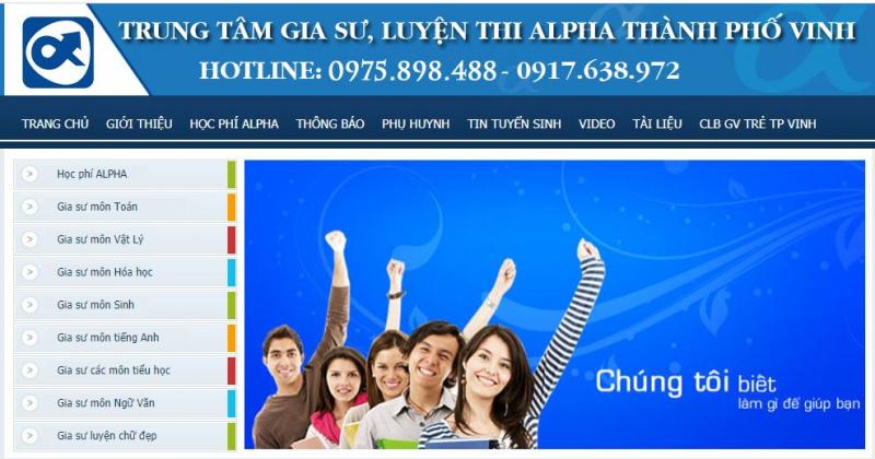 Trung tâm gia sư luyện thi Alpha