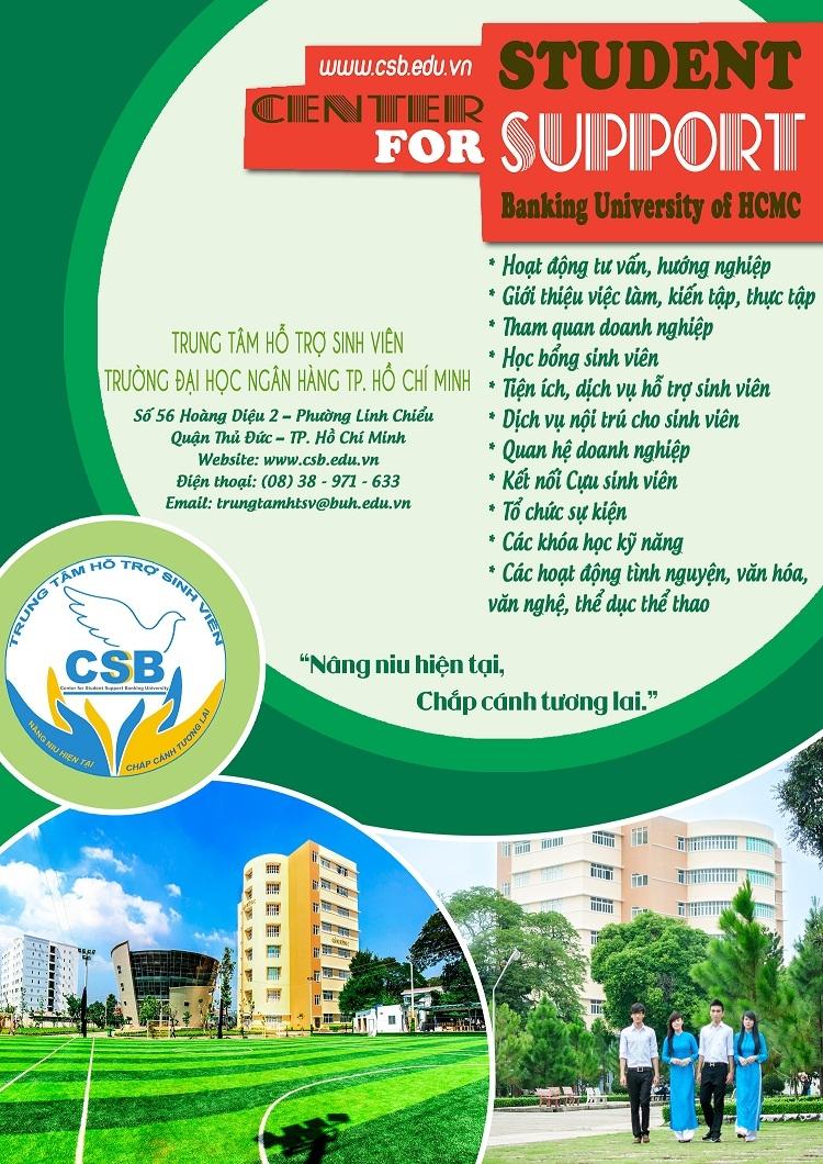 Trung tâm Hỗ trợ sinh viên trường Đại học Ngân Hàng TP. HCM
