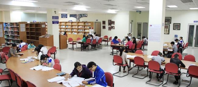 Một góc Trung tâm học liệu Đại học Thái Nguyên