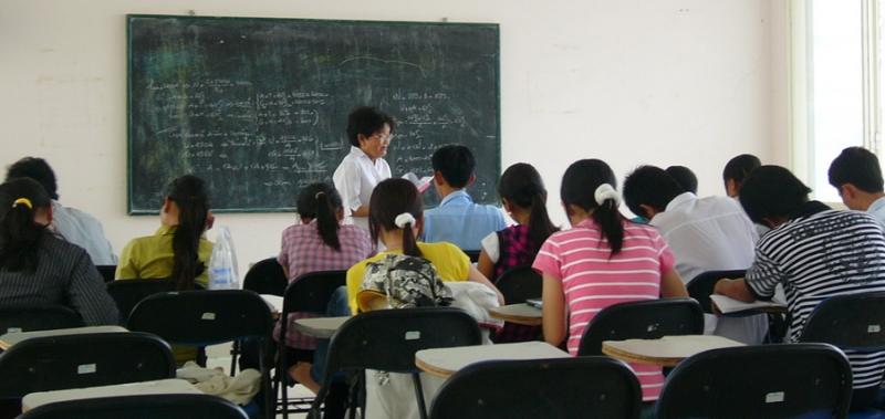 Lớp học luyện thi đại học