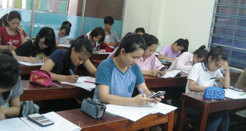 Lớp học toán trong trung tâm