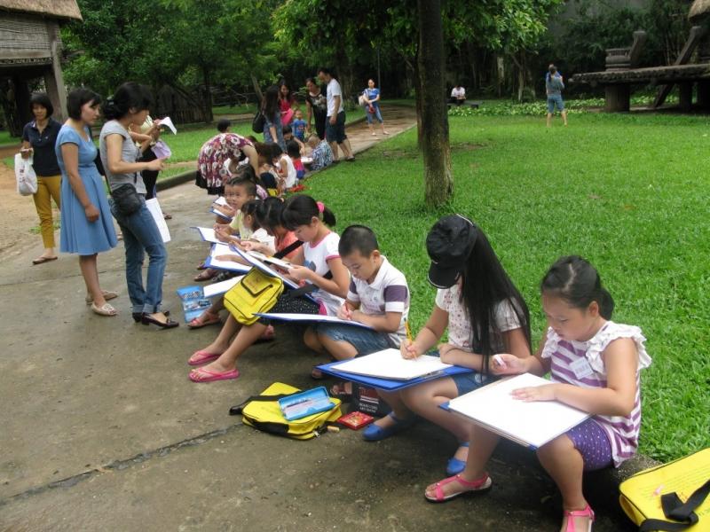 Lớp học vẽ dã ngoại