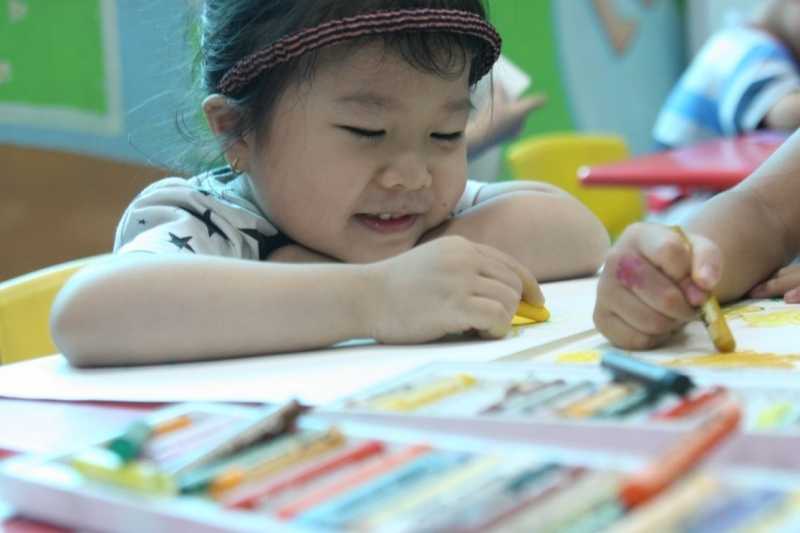 Lớp dạy vẽ cho trẻ tại Trung tâm nghệ thuật Green Art
