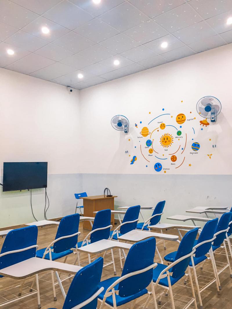 Phòng học trung tâm ngoại ngữ Sky