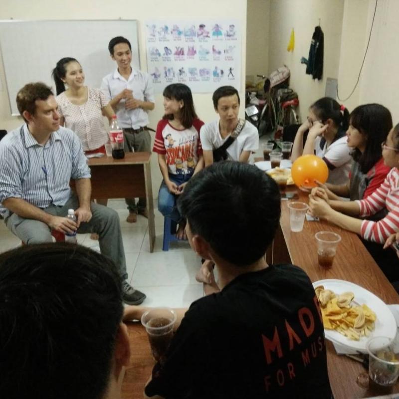 Giờ giao lưu với học viên