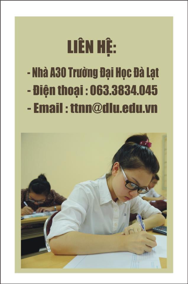Trung tâm Ngoại ngữ Trường Đại học Đà Lạt