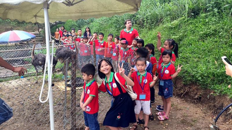 Trung Tâm Ngoại Ngữ Việt Trì cho các con đi dã ngoại.
