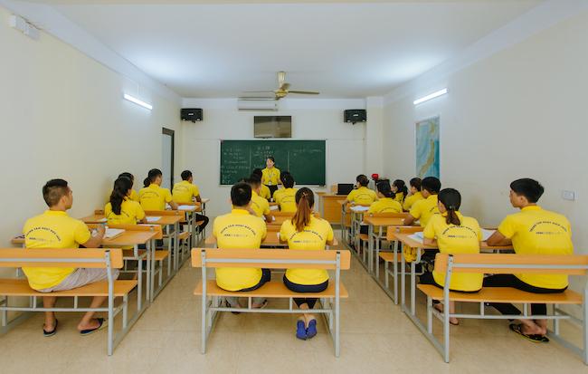 Lớp học tiếng tại Trung tâm Nhật ngữ Jasa