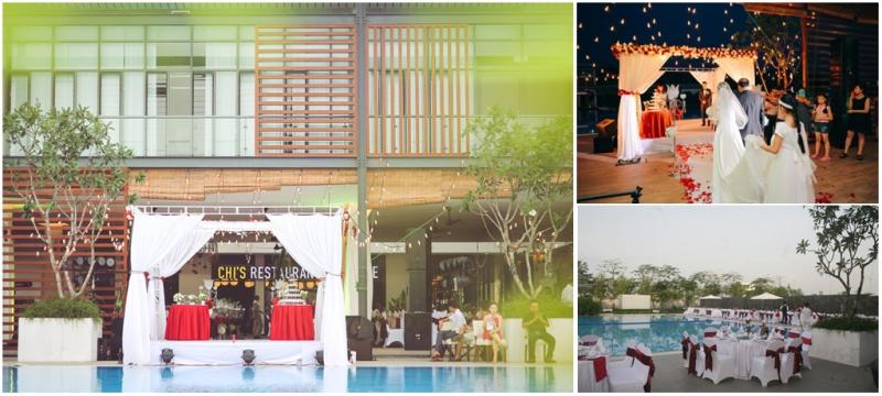 Không gian tổ chức tiệc cưới đẹp và lãng mạn