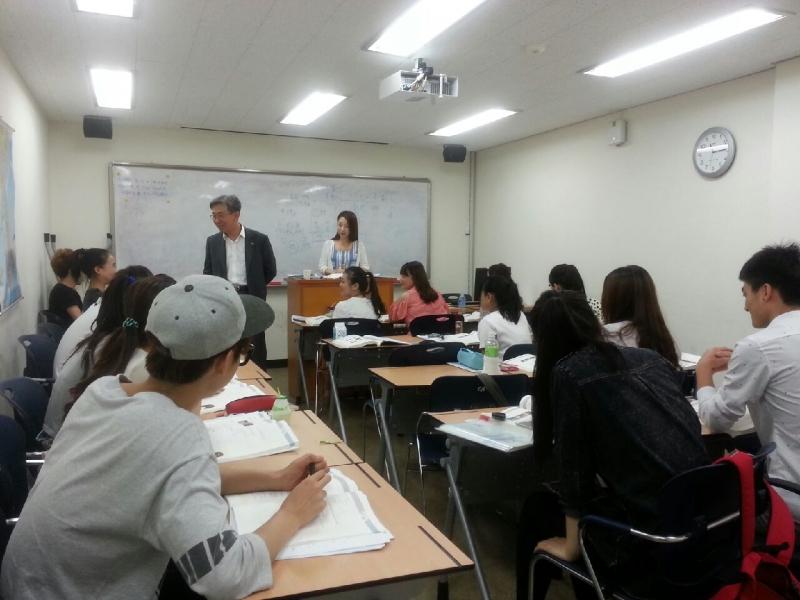 Một phần lớp học của Trung tâm tiếng Hàn Namseoul