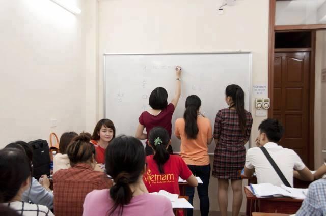 Lớp học tại trung tâm Chinese