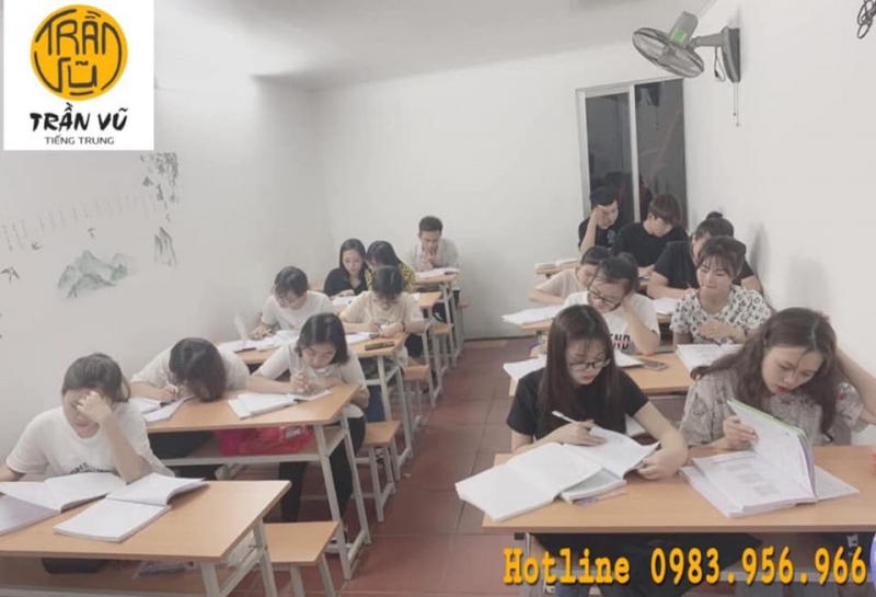 Không gian học tập tại trung tâm tiếng Trung Trần Vũ