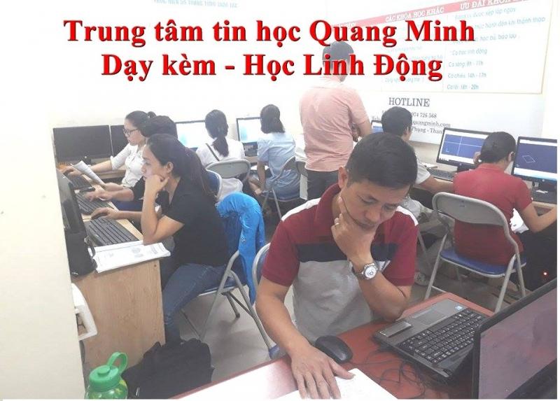 Quang Minh đào tạo Autocad với hình thức dạy kèm đến khi nào học viên thành thạo mới thôi.