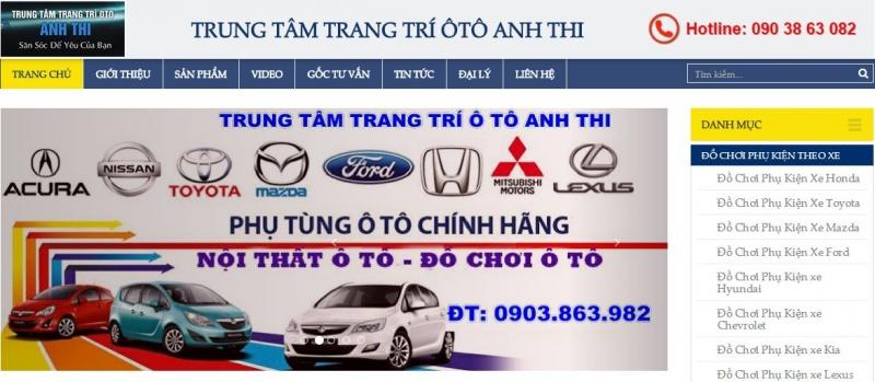 Trang web của trung tâm trang trí ô tô Anh Thi