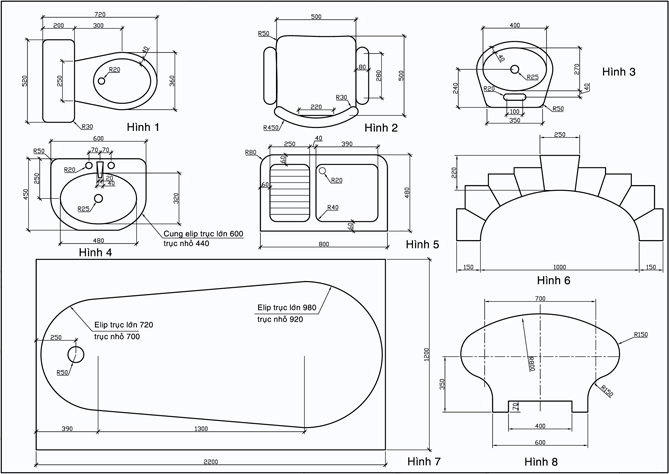 Bài tập cơ bản về AutoCAD