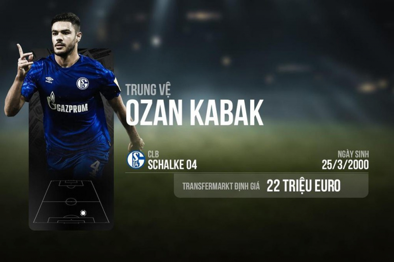 Trung vệ: Ozan Kabak (2000)