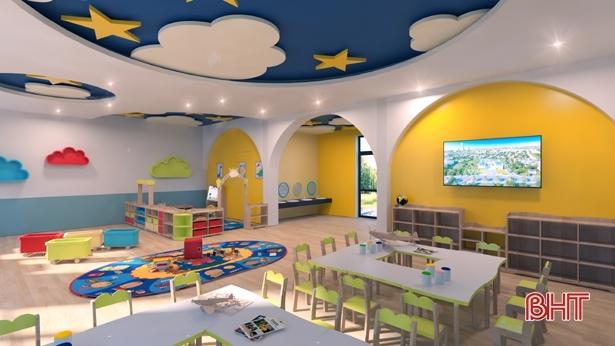 Phòng học tại trường Mầm non quốc tế Nguyễn Du Plus