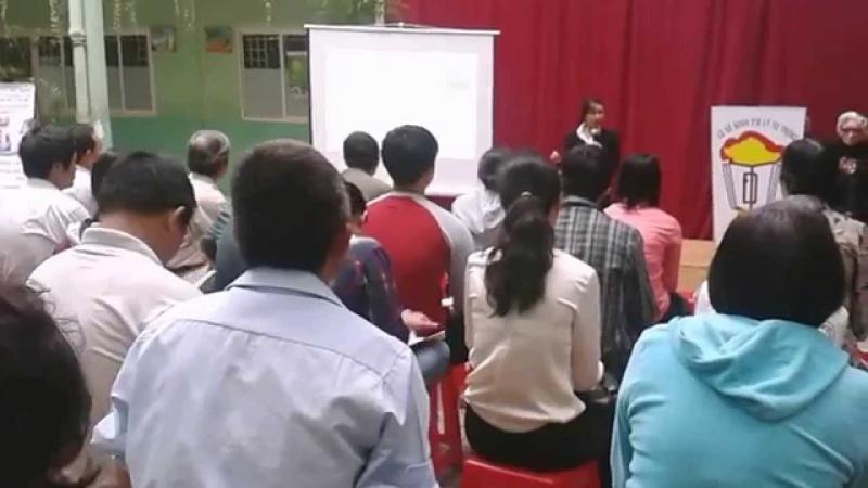 Một buổi hội thảo tại trường bồi dưỡng văn hóa Lý Tự Trọng
