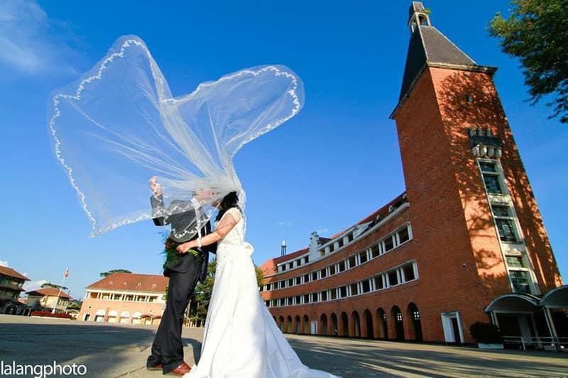 Ảnh cưới tại trường Cao đẳng Sư phạm Đà Lạt