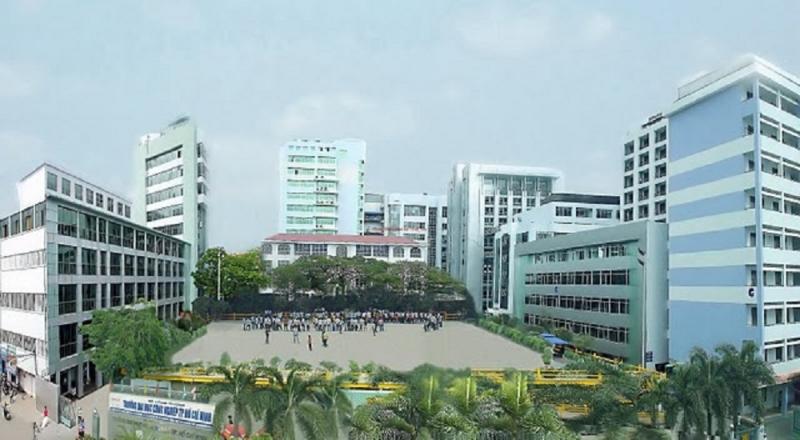 Toàn cảnh khuôn viên Đại học Công nghiệp Hà Nội.