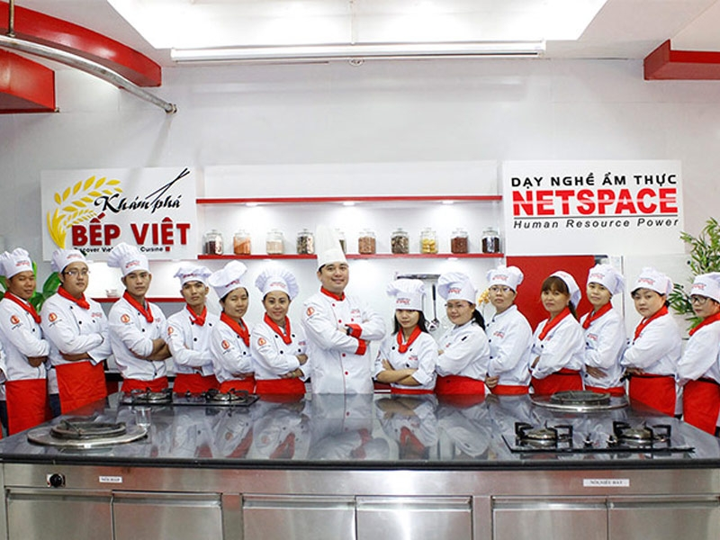 Phòng học bếp tại trường Netspace