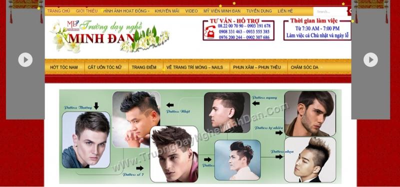 Trường dạy nghề cắt tóc chuyên nghiệp Minh Đan