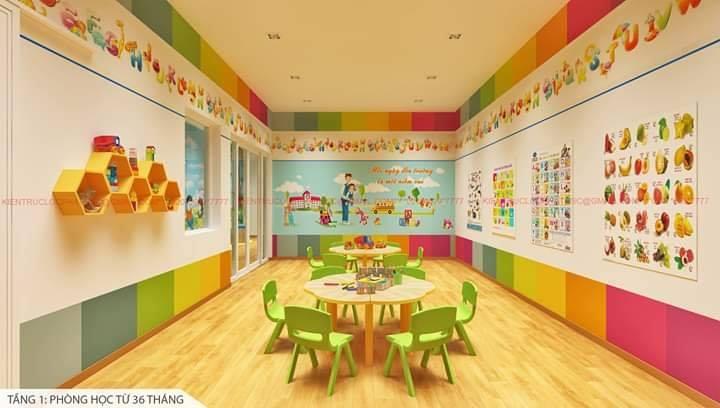 Một phòng học đáp ứng tiêu chí: sạch, đẹp, hiện đại tại Ban Mai Xanh