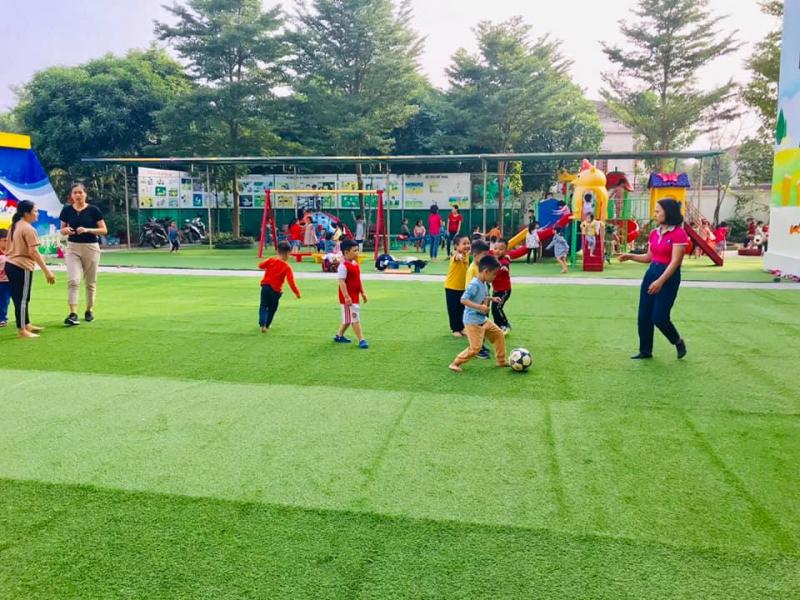 Hoạt động thể thao của các bạn nhỏ mầm non Hoa Anh Đào