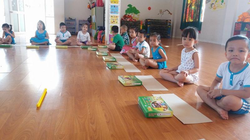 Trường Mầm non New World Trần Luận với phòng học tập, vui chơi cho các bé vô cùng rộng rãi