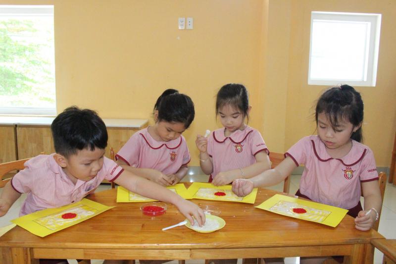 Trường mầm non Quốc tế Sài Gòn Academy tại Cơ sở số 3 Trần Quý Cáp - Bình Thạnh có khuôn viên 1400m2