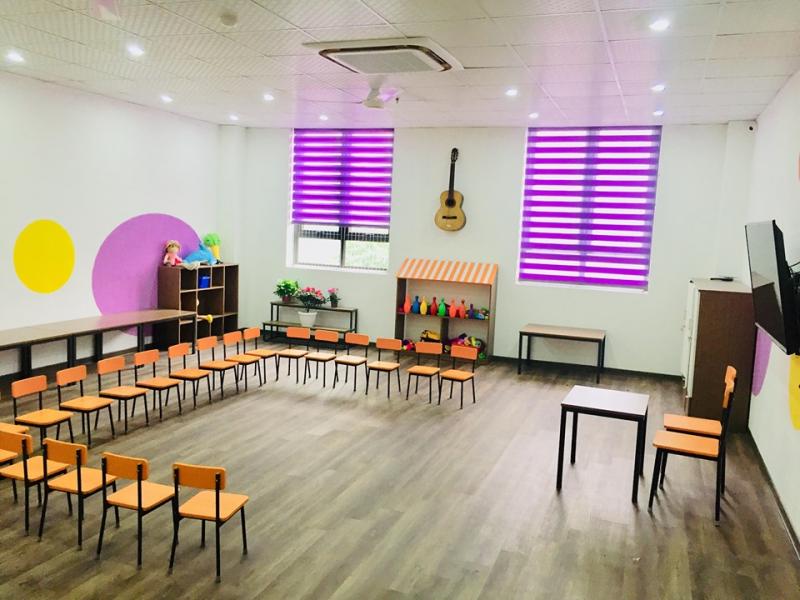 Cơ sở vật chất hiện đại, đáp ứng nhu cầu học tập, vui chơi của trẻ