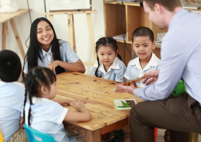 Môi trường cho trẻ học tiếng Anh tốt nhất.