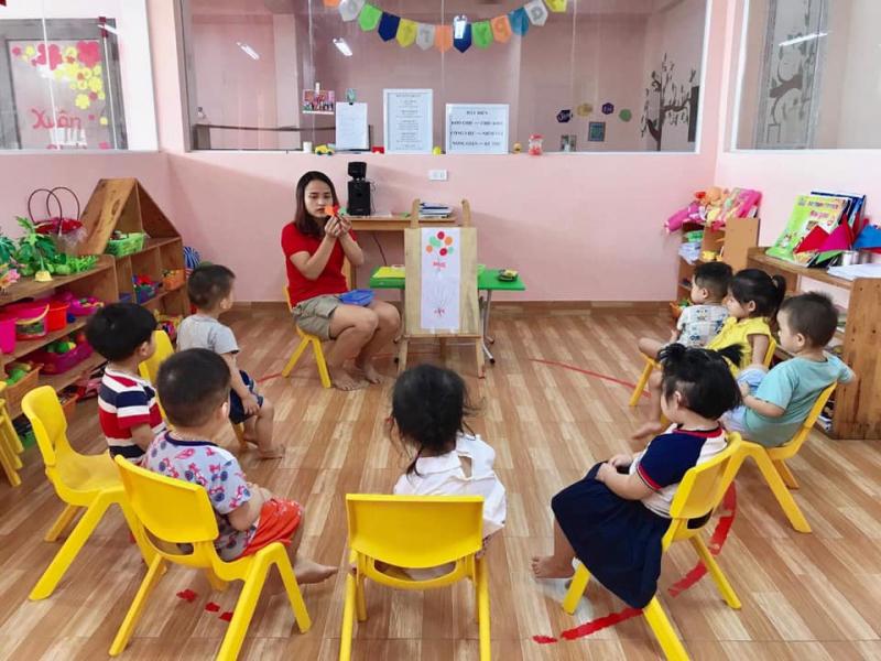 Tiết học của các bé tại Mầm non song ngữ Vườn Xuân