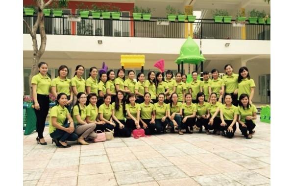 Đội ngũ Gv trẻ, tâm huyết yêu nghề của mầm non TrÍ Đức