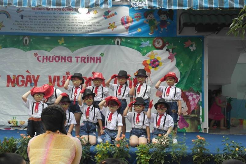Trẻ ở Trường Mầm non Tư thục Quang Trung