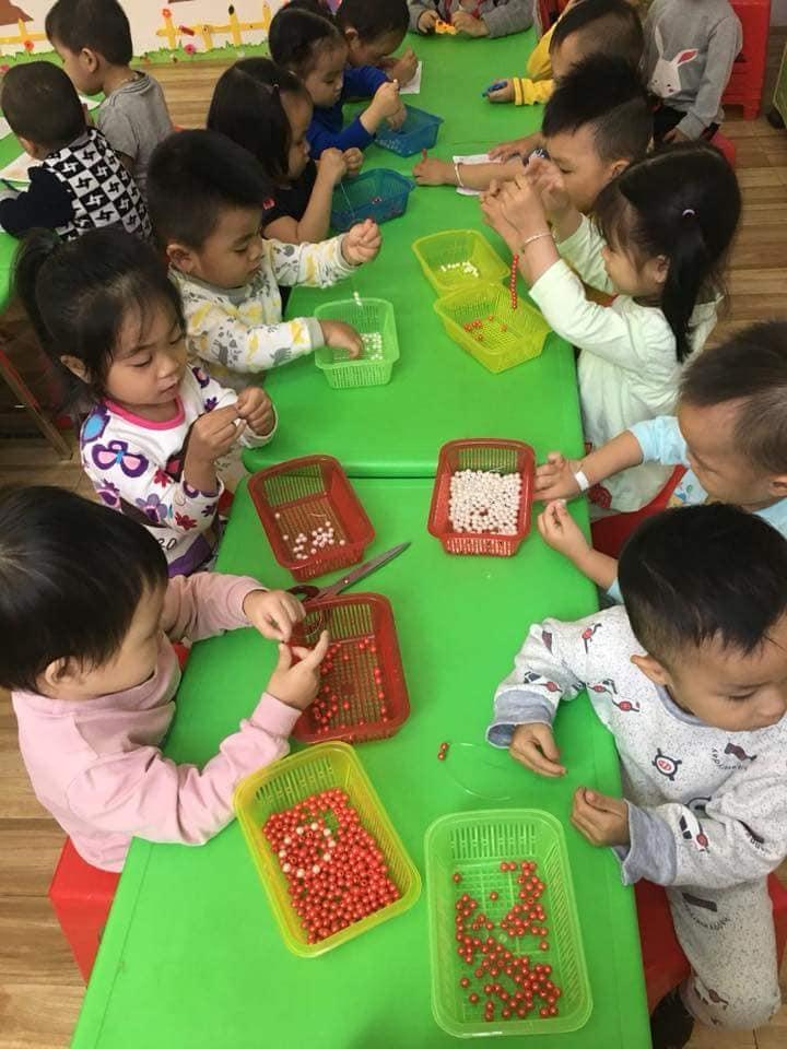 Các bé được tham gia nhiều hoạt động nhằm phát triển toàn diện