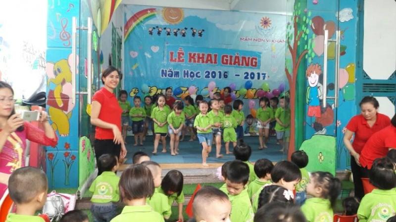 Lễ khai giảng ở Trường Mầm non Vi Khánh