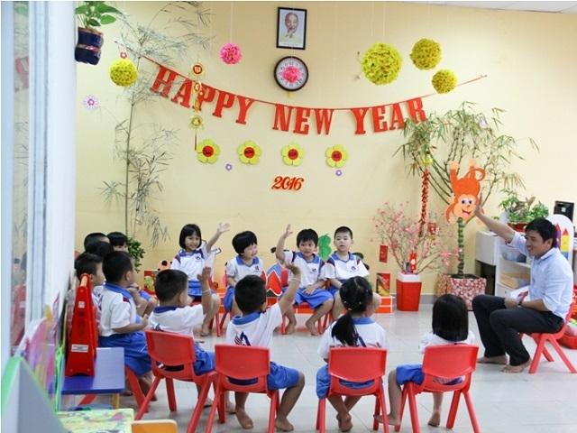 Thầy và trò Trường mầm non Việt Mỹ