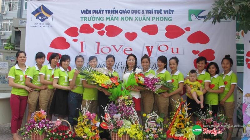Đội ngũ giáo viên Trường Mầm Non Xuân Phon