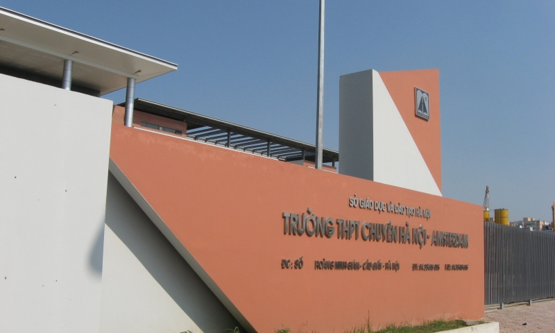 Trường THPT chuyên Hà Nội Amsterdam mới  tại đường Hoàng Minh Giám