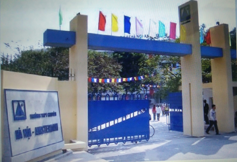 Trường THPT chuyên Hà Nội Amsterdam, cơ sở đầu tiên tại số 1 đường Văn Cao, Hà Nội