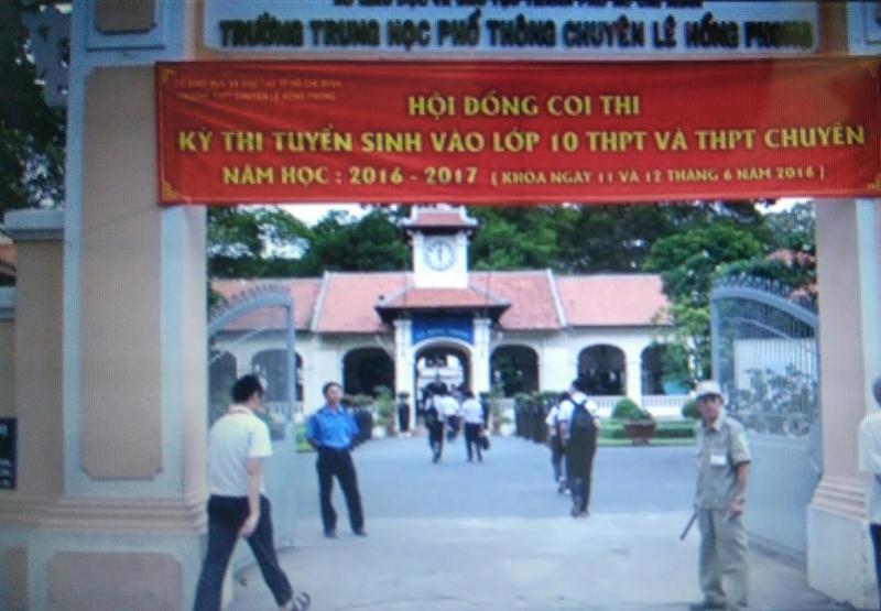 Hội đồng thi tuyển sinh THPT và THPT chuyên năm học 2016 -2017 tại Lê Hồng Phong