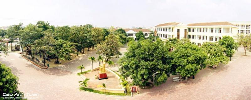 một góc sân trường THPT chuyên Phan Bội Châu