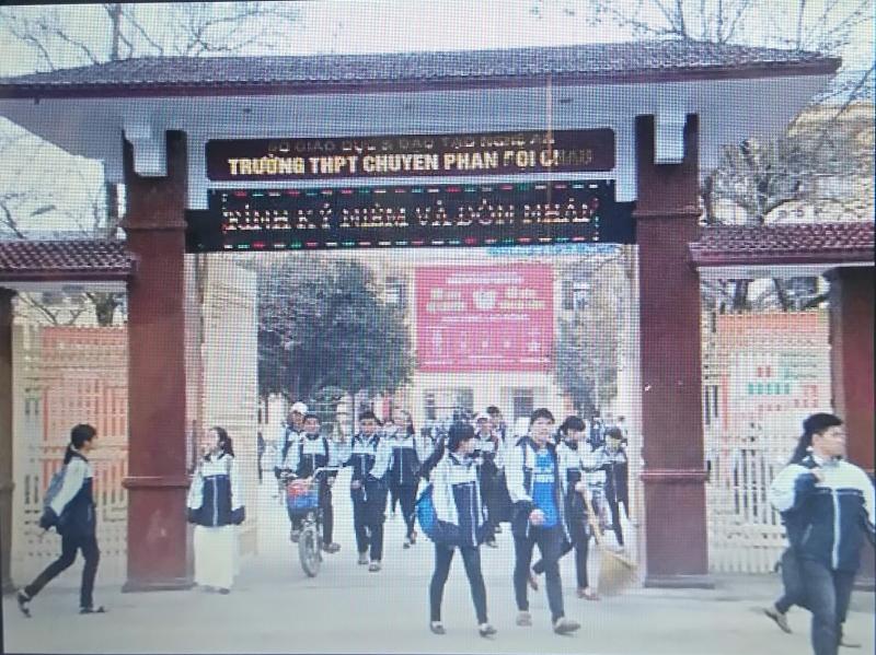 Trường THPT Phan Bội Châu - niềm tự hào của xứ Nghệ.